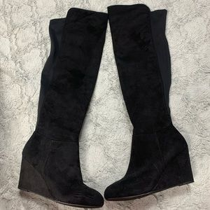New Chinese Laundry over the knee wedge boots